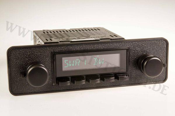 Autoradio für Fiat, Alfa Romeo, Opel, BMW, VW, Porsche der späten 70er mit DAB+, USB und Bluetooth