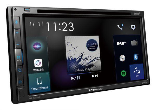 Pioneer AVH-Z5200DAB DAB+ Autoradio mit CD und Bluetooth
