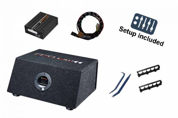 VW T6 Soundupgrade-Set mit DSP-Verstärker, Plug&Play-Kabelsatz und Subwoofer