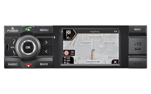 Kienzle MCR1031NAV1DIN Navigationsradio mit DAB+, Radiotuner, Bluetooth und USB