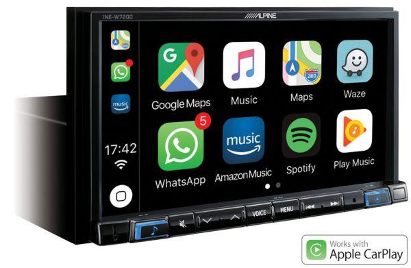 Alpine INE-W720D - 7 Zoll Navigationssystem mit DAB+