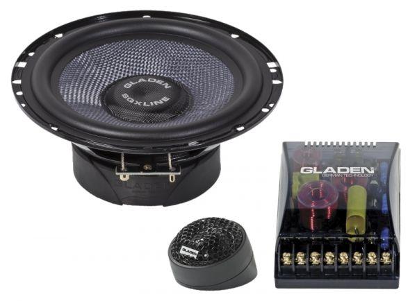 Gladen SQX 165 16,5cm 2-Wege-Kompo-Lautsprecher, 2 Ohm / 120 Watt RMS