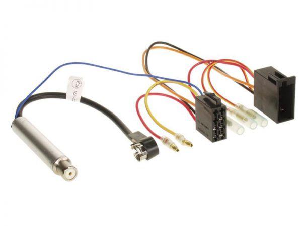 Radioanschlußkabel mit ISO Phantomeinspeisung AUDI / VW / SEAT / SKODA