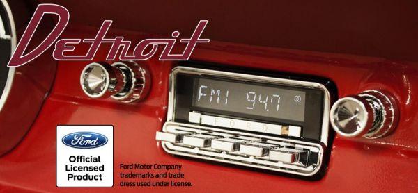 RETROSOUND-Detroit-verchromt-fuer-1964-66-Ford-Mustang-Santa-Barbara