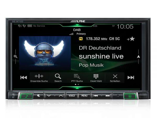 Alpine ILX-702D Digital Media Station mit kapazitivem 7-Zoll Display, Apple CarPlay und Android Auto