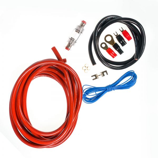 ARS - Car-Hifi Verstärker Kabel-Anschlusskit 25mm² für bis zu 1200 Watt / 80A