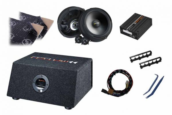 VW T6 Soundupgrade-Set mit DSP-Verstärker, Dämmung, Lautsprecher und Subwoofer