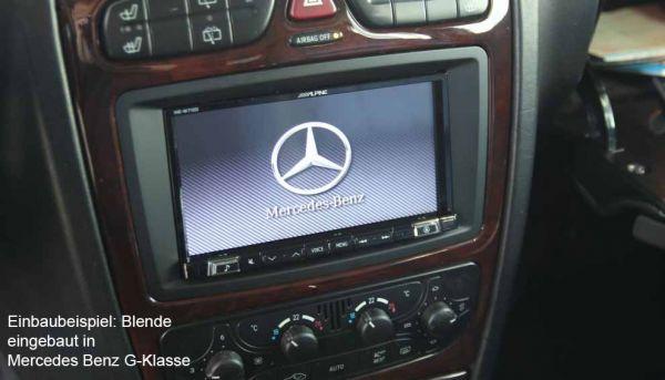 Radioblende 2-DIN für Mercedes Benz C, CLK, G-Klasse, Vito, Viano