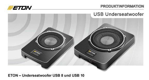 ETON USB 10 Aktivsubwoofer
